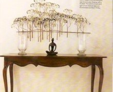 Custome Made Sideboard with Trees Sculpture